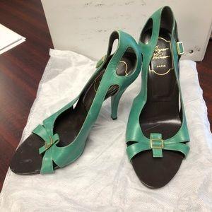 Roger Vivier green heels